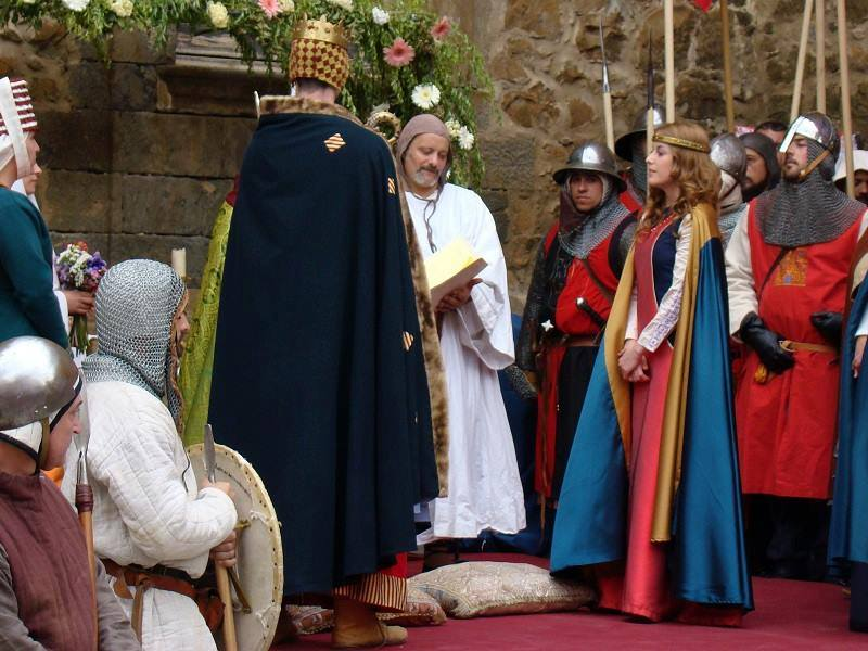 Recreación de los Desposorios de Jaime I y Leonor de Plantagenet en Ágreda
