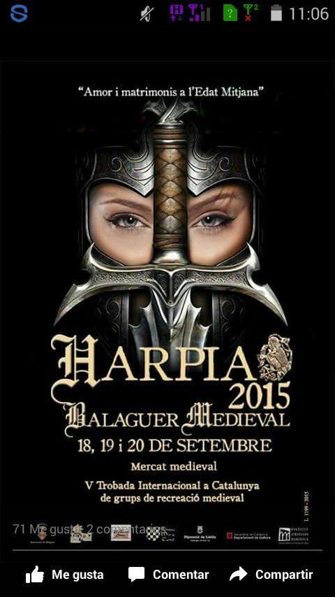 Cartel de Harpia 2015 en Balaguer
