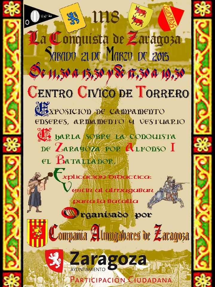 Cartel de la exposición 1118 la conquista de Zaragoza