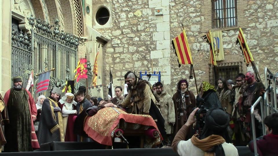 Grupo musical LURTE en el entierro de Diego de Marcilla en las Bodas de Isabel de Segura 2015
