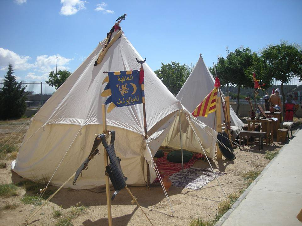 Campamento medieval jornada multicultural colegio Valdespartera