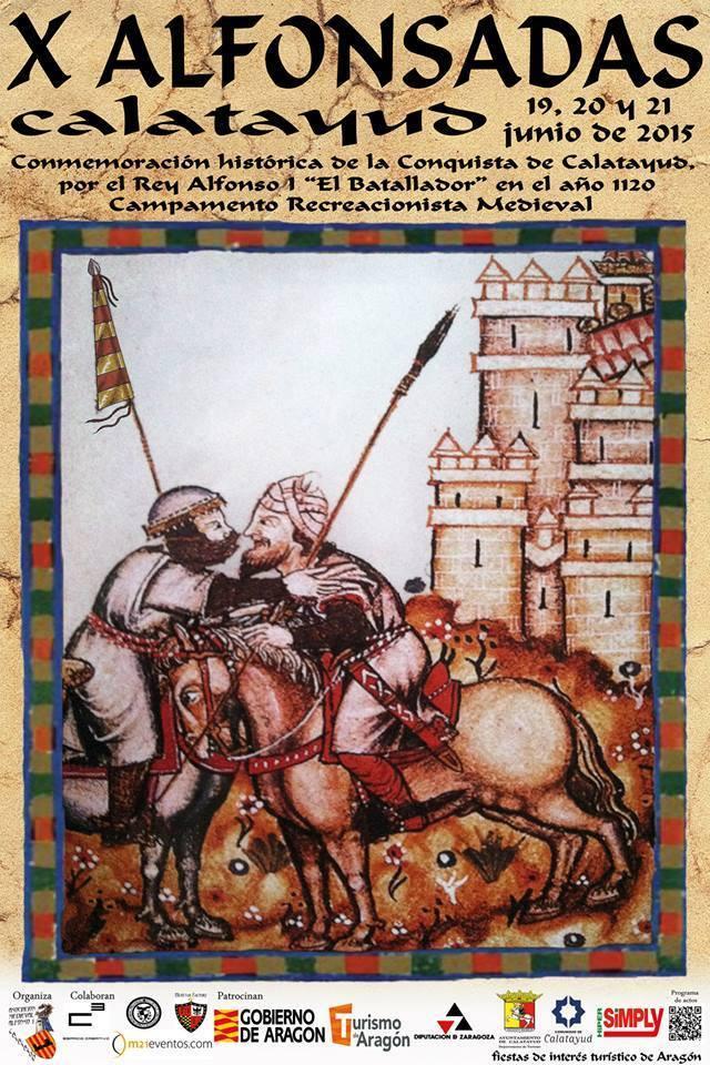 Cartel de las Alfonsadas de Calatayud