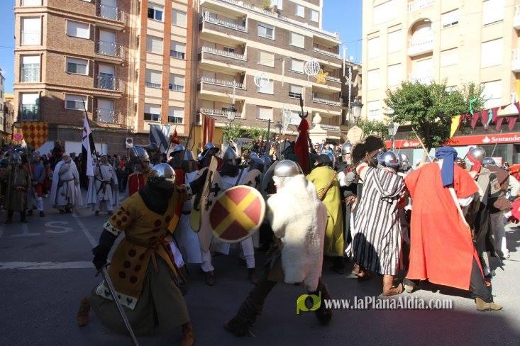 Momento de la Batalla de Alcora entre tropas andalusíes y de Ximén de Urrea