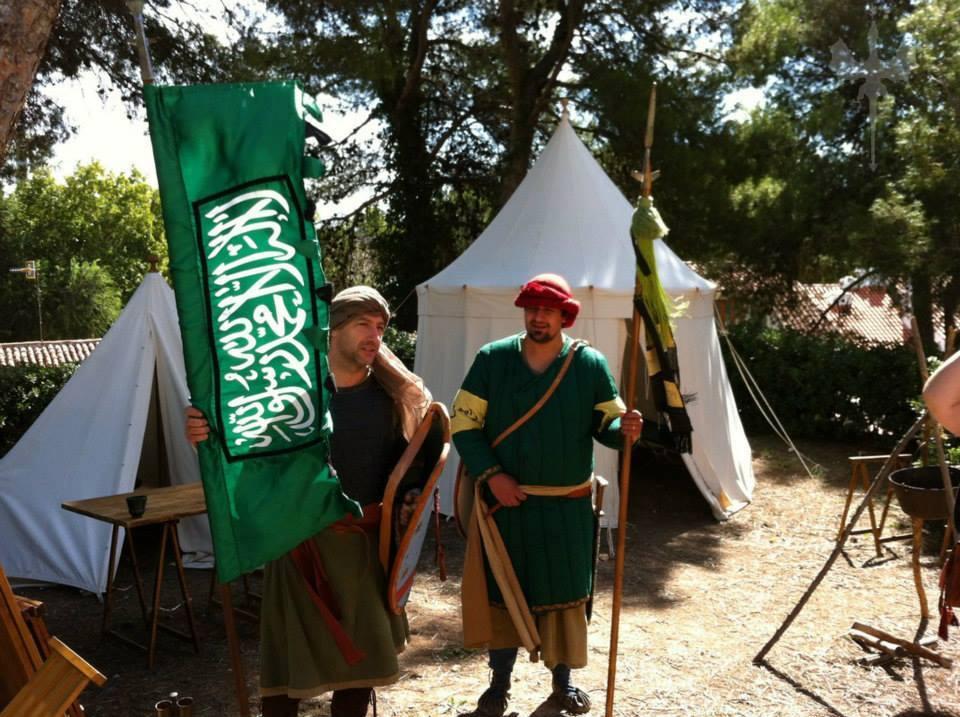 Tropas sarracenas en el campamento medieval de La Puerta del Tiempo de Almansa