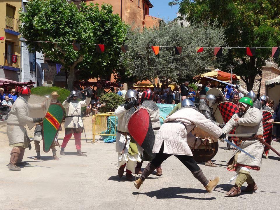 Momento de la batalla medieval de las Alfonsadas de Calatayud