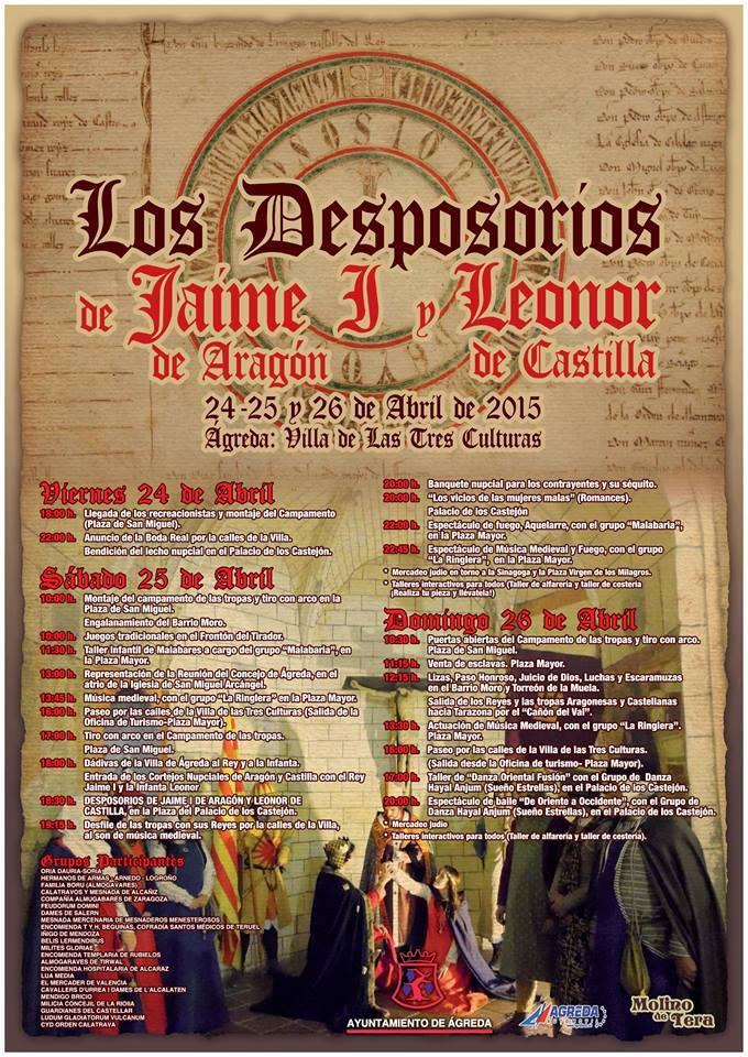 Cartel de los Desposorios de Jaime I y Leonor de Plantagenet en Ágreda