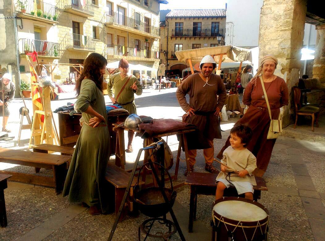Campamento medieval de los Almogávares en Luesia en la Don Miguelada