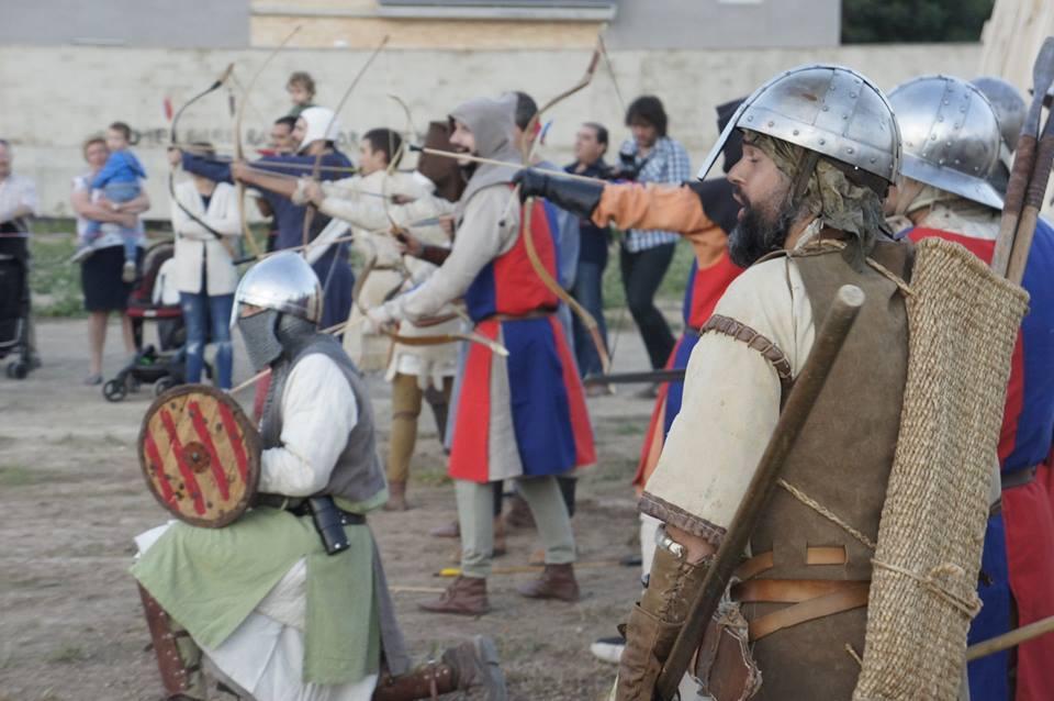 Arqueros en la batalla de Alagón