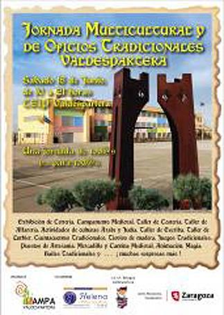 Cartel de la Jornada multicultural y oficios tradicionales colegio Valdespartera