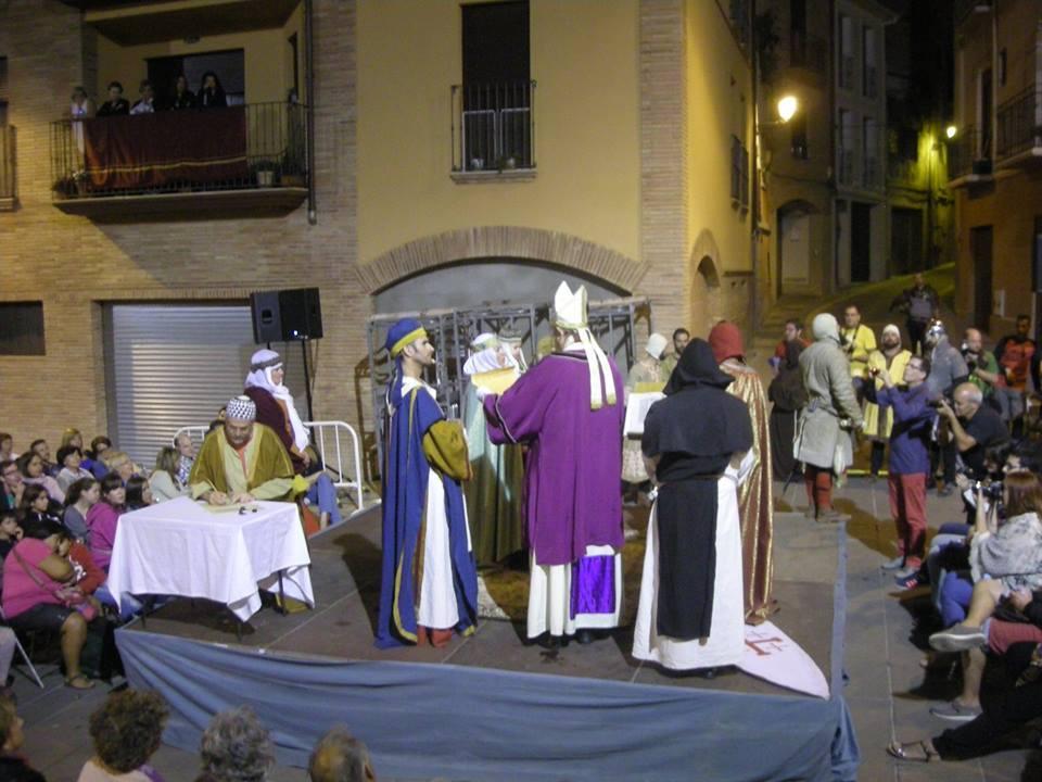 Recreación de los esponsales de Ramon Berenguer IV y Petronila de Aragón en Barbastro