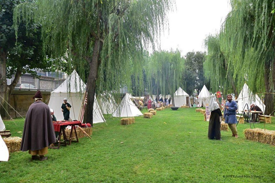 Vista del campamento medieval