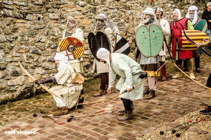 Tropas Sarracenas prestas para la defensa de la población de Culla