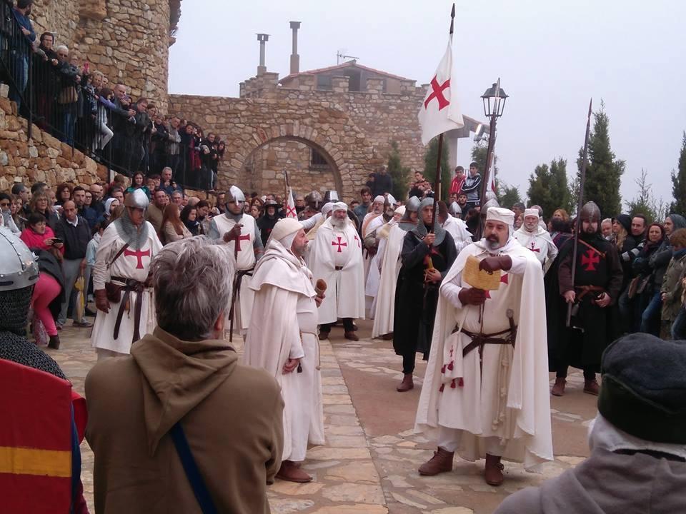 Caballeros Templarios tomando posesión de la población de Culla