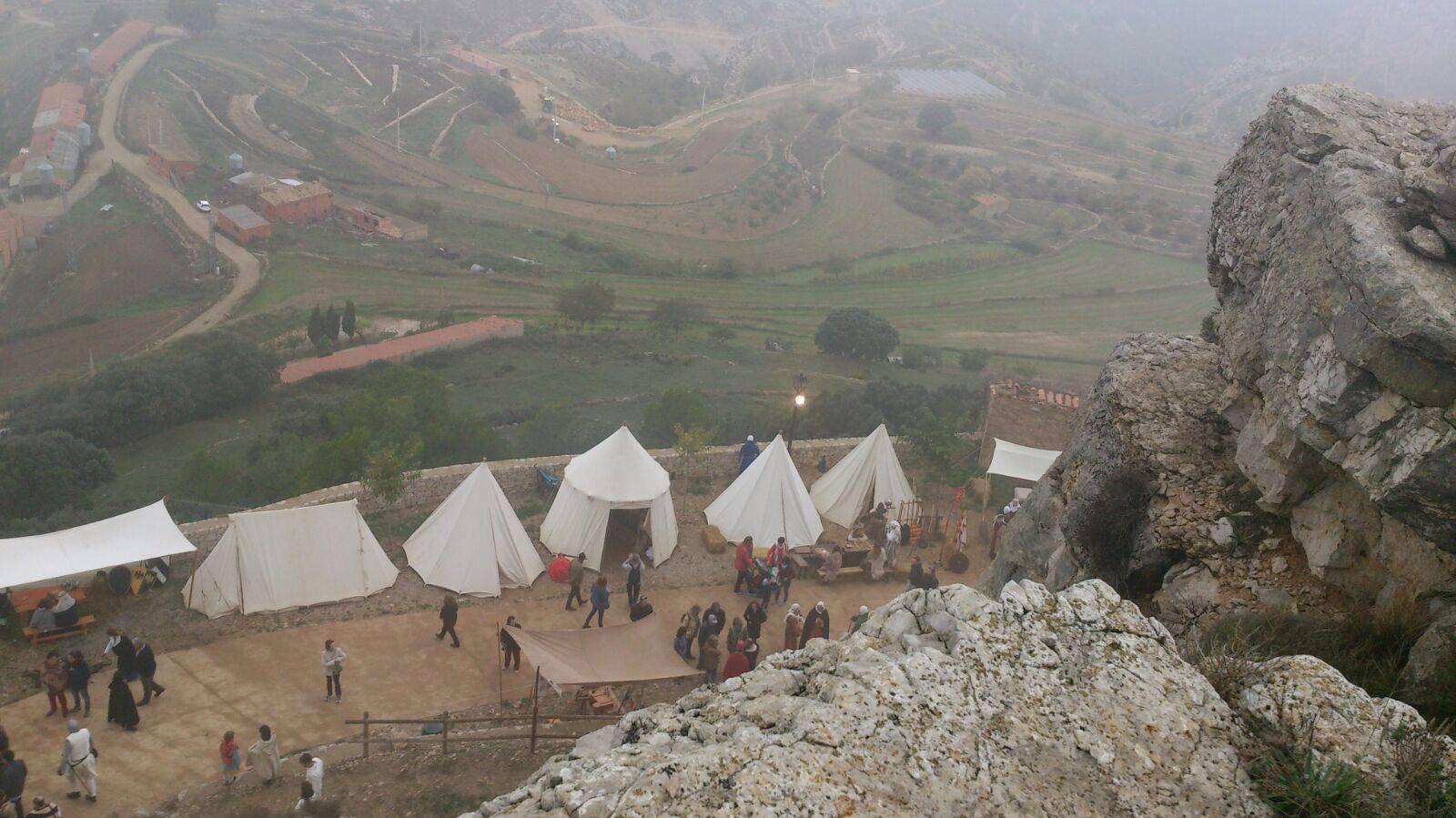 Campamento Medieval en lo alto del Castillo de Culla