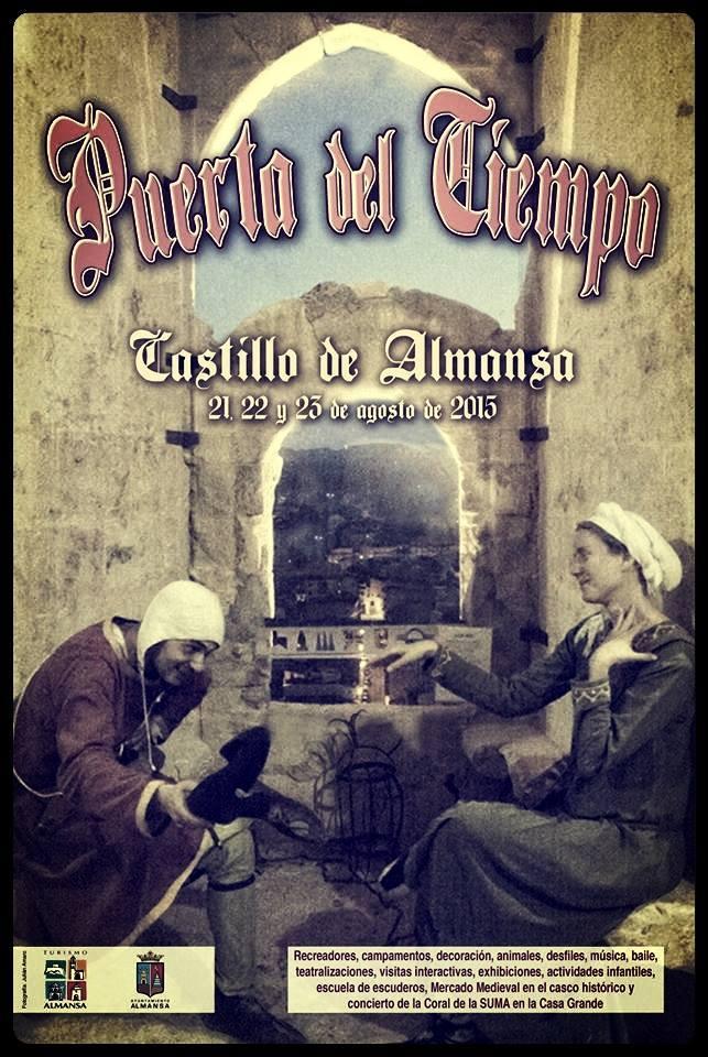Cartel de la Puerta del Tiempo de Almansa