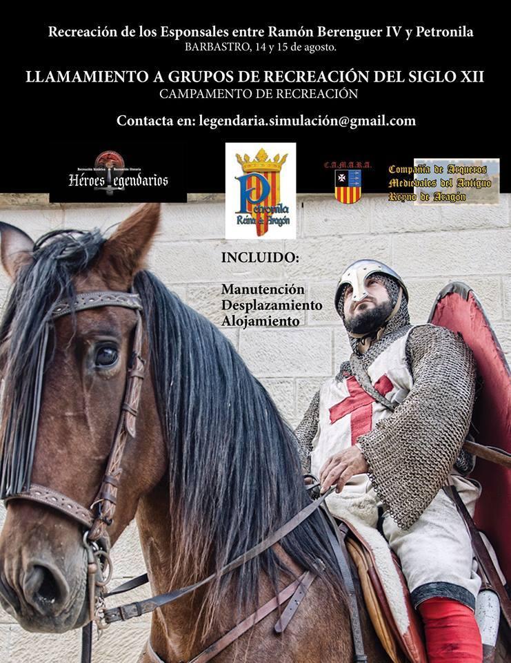 Cartel de los esponsales de Ramón Berenguer IV y Petronila de Aragón en Barbastro