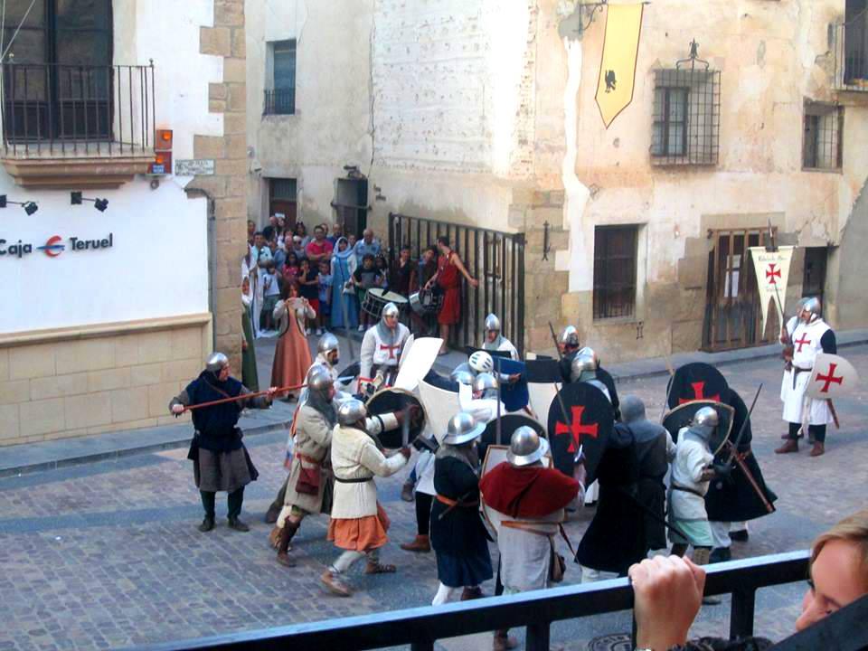 Momento de la Batalla de Rubielos de Mora