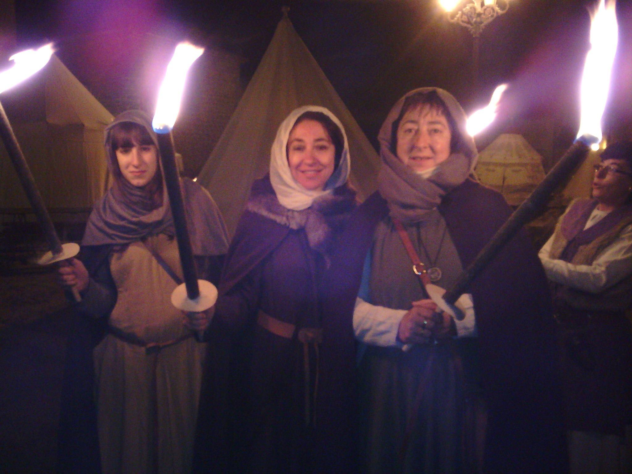 Desfile nocturno en los Desposorios de Jaime I y Leonor de Plantagenet en Ágreda