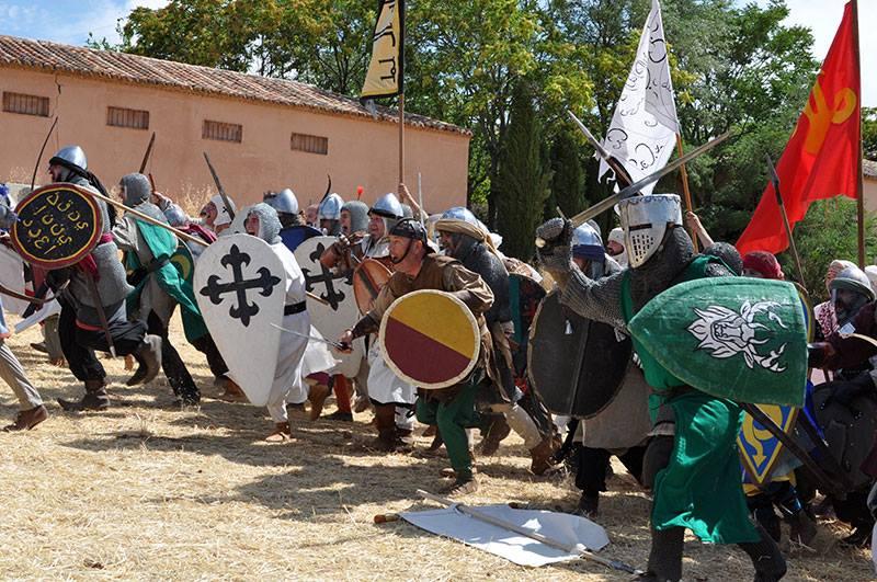 Ataque de las tropas en la batalla de Alarcos