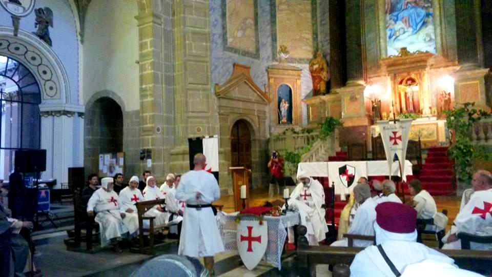 Acto Templario en la iglesia de Rubielos de Mora