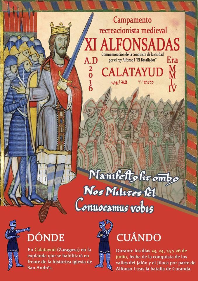 Cartel Alfonsadas Calatayud 2016