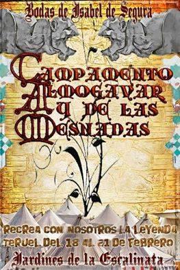 Cartel del Campamento Almogávar y de las mesnadas en las Bodas de Isabel de Segura