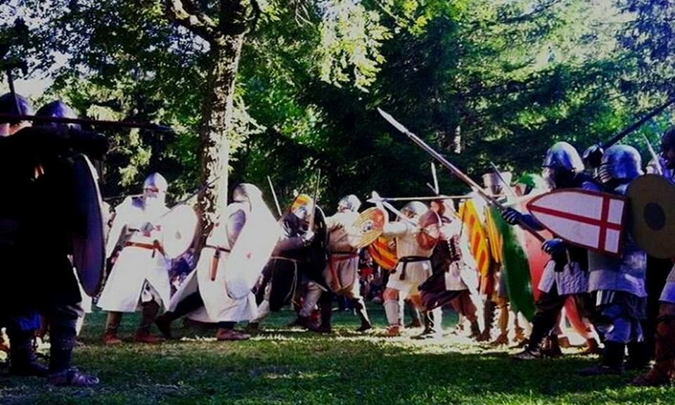 Momento de la batalla de Bagá Medieval 2016