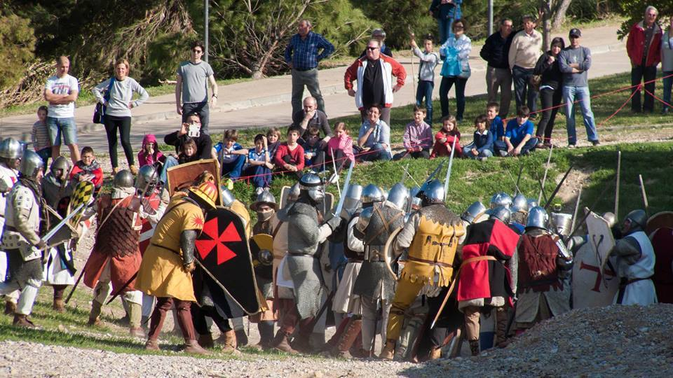 Momento de la Batalla de Alcañiz año 1300