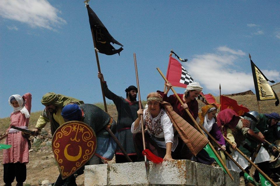 Defensa de las murallas en la batalla de Alarcos