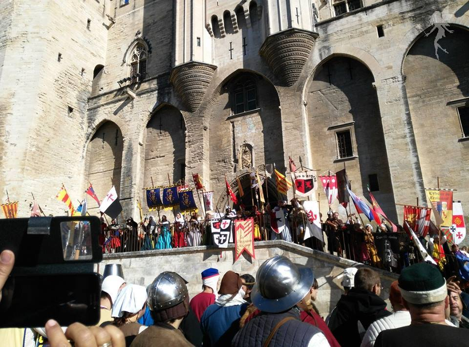 Recreacionistas en la Rosa de oro de Avignon